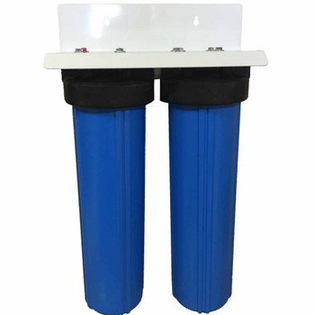 20-inch 2 Stage Big Blue Whole House Filter with DUAL Bone Char Carbon - Ultimate Fluoride Removal System