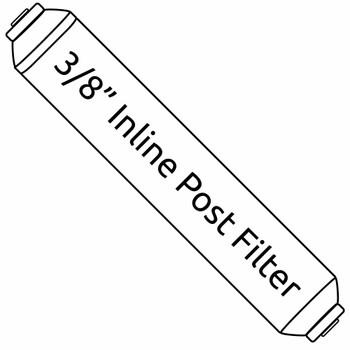 Inline 3/8-inch Carbon Taste & Odor Post Filter - 2-inch x 10-inch