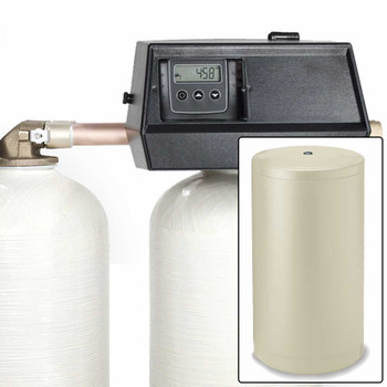 32k Digital Dual Tank Alternating IRON PRO Water Softener with Fleck 9000SXT - Removes Iron, Manganese, and Hardness