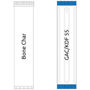 20-inch Big Blue 2 Stage Filter Kit with Bone Char-GAC/KDF55