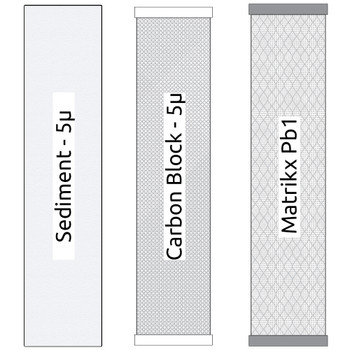 20-inch Big Blue 3 Stage Filter Kit with Sediment, Carbon Block and  Matrikx Pb1 Filters