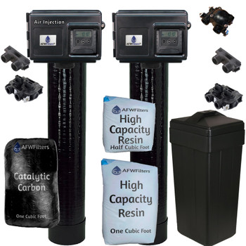 Whole Home Treatment - 8 GPM - 48k Water Softener and Air Injection Gold 10 System with Fleck 2510SXT