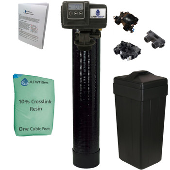 Upgraded 1 cubic Foot (32k) On Demand Whole Home Water Softener with 10% Crosslink Resin