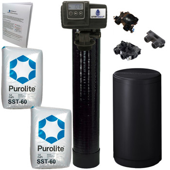 High Efficiency 2 cubic Foot (64k) Fleck 5600SXT On Demand Whole Home Water Softener with 10% Crosslink Resin