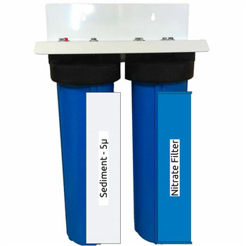 20-inch 2 Stage Sediment-Nitrate Big Blue Whole House Filter