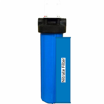 20-inch Single Stage Nitrate Big Blue Whole House Filter