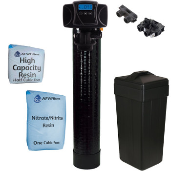 1.5 cu ft Nitrate/Nitrite Filter Water Softener 1.5 Cu Ft 67/33 Resin Blend with Fleck 5600SXT