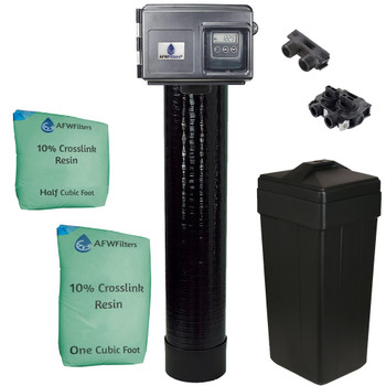 1.5 Cubic Foot (48k max) 10% Crosslink Digital Water Softener with Fleck 2510SXT