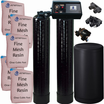 Dual Alternating Tank Iron Pro 2.5 cubic Foot (80k) Fleck 9100 On Demand Whole Home Water Softener with Fine Mesh Resin