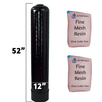 Loaded 2 cu ft Fine Mesh Softener Tank Replacement - 12x52