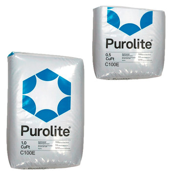 Purolite C100E C-100E Cationic Resin 1.5 Cu Ft Replacement for Water Softener 1 CuFt Bag Media