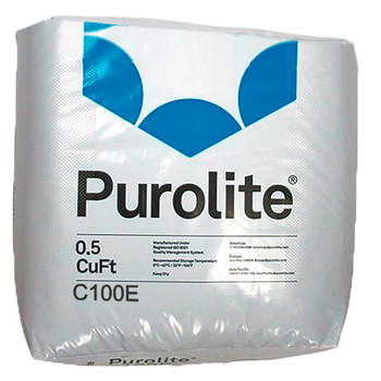 Purolite C100E C-100E Cationic Resin Replacement for Water Softener 0.5 CuFt Bag Media