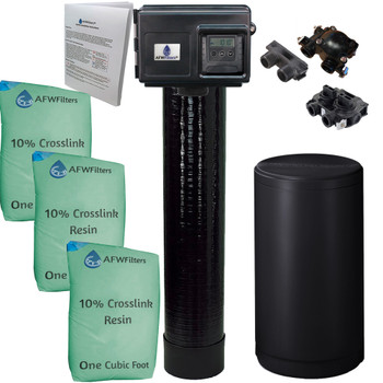 Upgraded 96k Water Softener 10% Crosslink Resin with Fleck 2510SXT