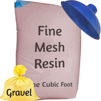 Fine Mesh Iron Pro Water Softener Refill Kit - 1 cu ft (32k) with funnel