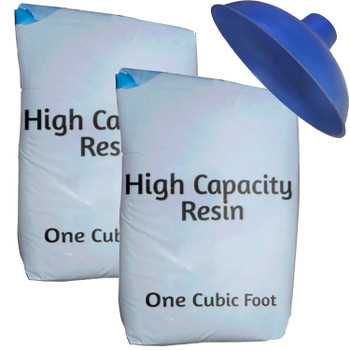 High Capacity Water Softener Refill Kit - 2 cu ft (64k) with funnel