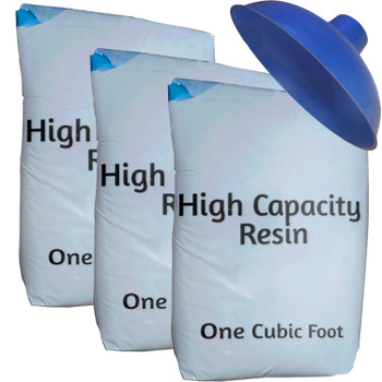 High Capacity Water Softener Refill Kit - 3 cu ft (96k) with funnel