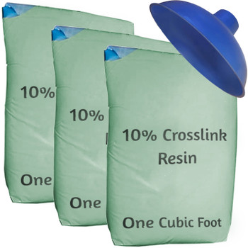 Upgraded 10% Crosslink Water Softener Refill Kit - 35 cu ft (96k) with funnel