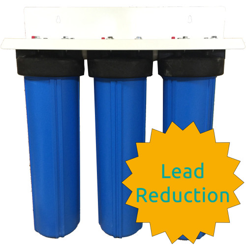 20-inch 3 Stage Sediment-Carbon-Matrikx Pb1 Big Blue Whole House Filter
