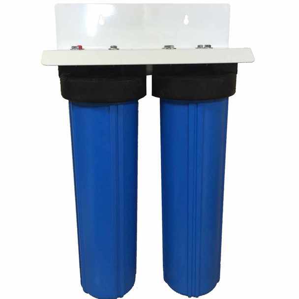 20-inch 2 Stage Big Blue Whole House Filter with Catalytic Carbon/KDF85