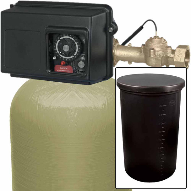 300k Commercial High Flow Metered Water Softener with Fleck 2850 On-Demand