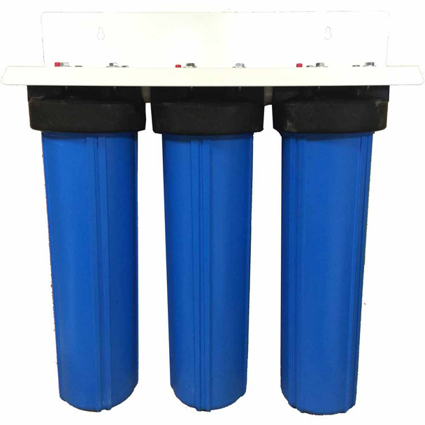 20-inch 3 Stage Big Blue Whole House Filter for Fluoride, Arsenic, Chlorine, Chemicals, and Odor Removal