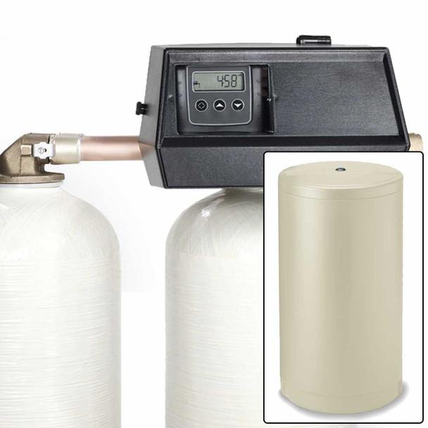 48k Digital Dual Tank Alternating IRON PRO Water Softener with Fleck 9000SXT - Removes Iron, Manganese, and Hardness