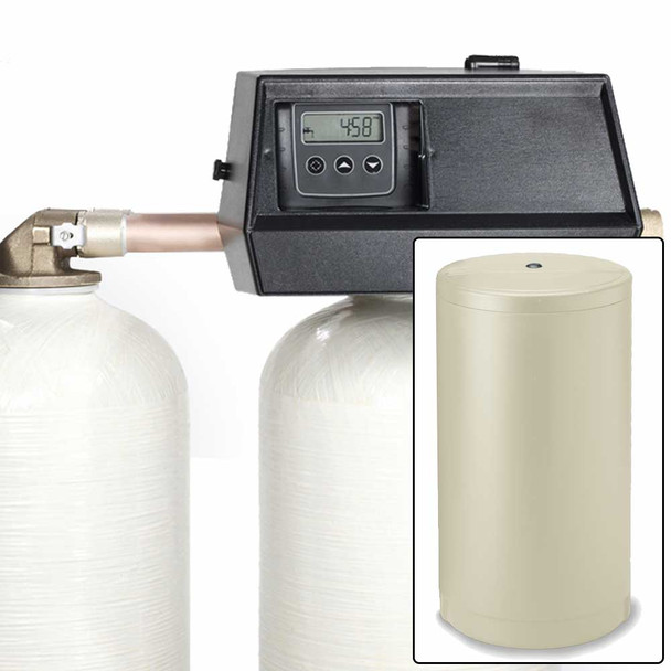 32k Digital Dual Tank Alternating IRON PRO Water Softener with Fleck 9000SXT - Removes Iron, Manganese, and Hardness