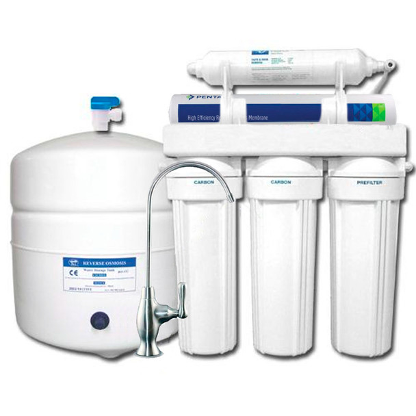 5-stage GRO Green Reverse Osmosis System with Pentair High Recovery Membrane