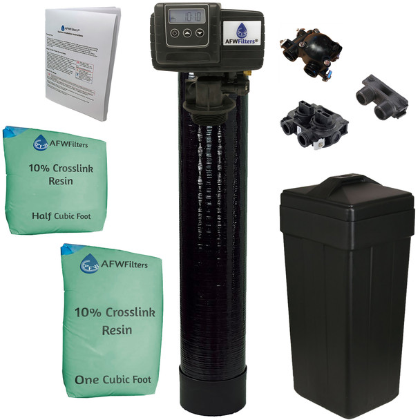 Upgraded 1.5 cubic Foot (48k) On Demand Whole Home Water Softener with 10% Crosslink Resin