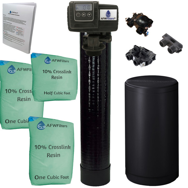 Upgraded 2.5 cubic Foot (80k) On Demand Whole Home Water Softener with 10% Crosslink Resin