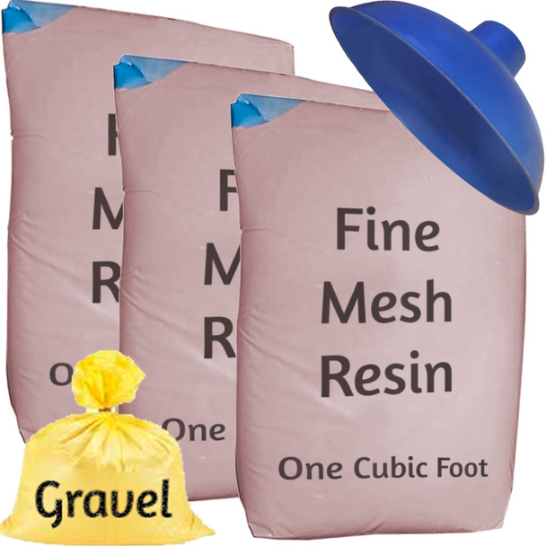 Fine Mesh Iron Pro Water Softener Refill Kit - 3 cu ft (96k) with funnel