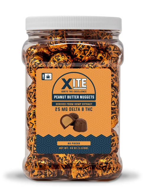 Xite Single Serving Chocolate Peanut Butter Nuggets- D8