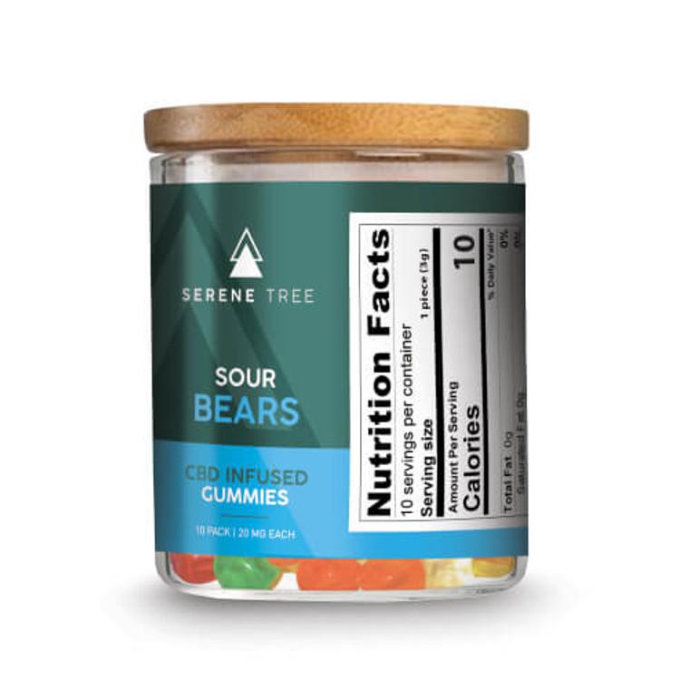 CBD sour gummy bears