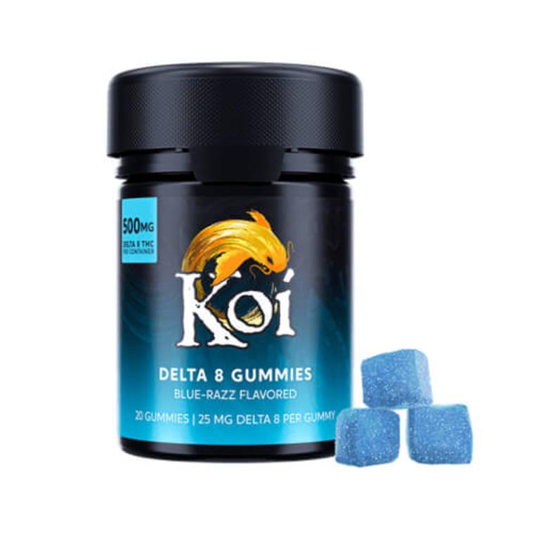 Blue Razz Delta-8 THC gummies by Koi