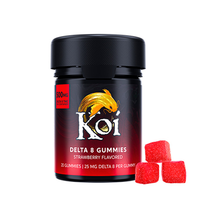 Koi Delta-8 THC Strawberry-flavored gummies