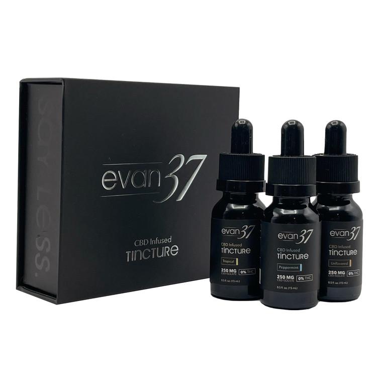 Evan 37 - 3x15mL CBD-Infused Tincture Travel Pack