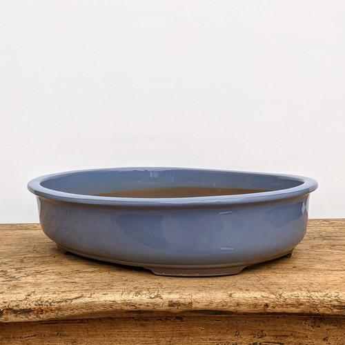 Kinyo (blue) Glazed Bonsai Pot