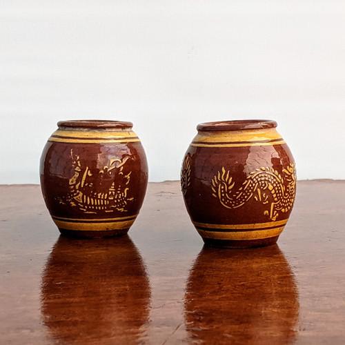 Set of 2 - Bamboo Flower Pots (TK-843)
