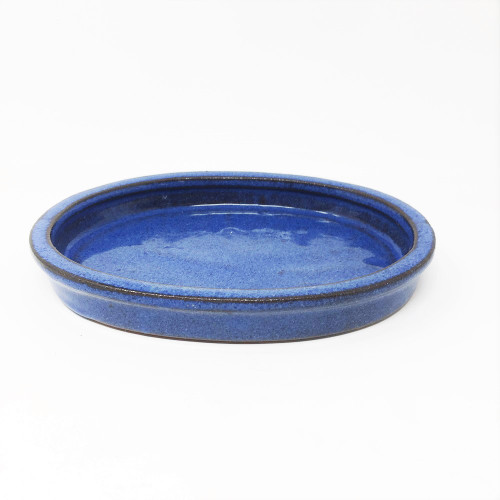 Blue Oval Ceramic Humidity Tray (Choose Your Size)