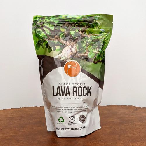Black Scoria Lava Rock for Bonsai Soil