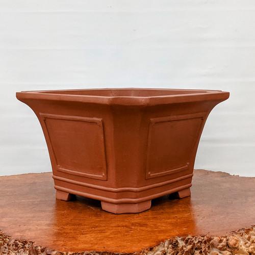 """12"""" Unglazed Square Ceramic Pot (YX1402)"""
