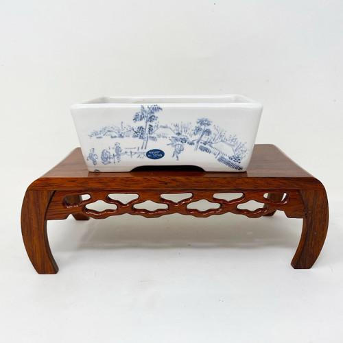 """4.5"""" Painted Japanese Pot for Kusamono, Accessory or Shohin Planting (KUS015)"""