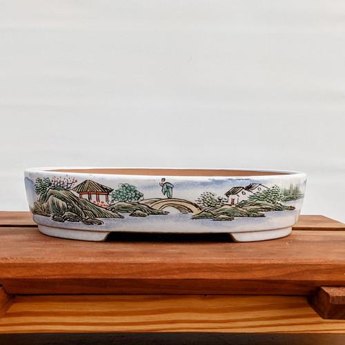 """7"""" Glazed Ceramic Pot (1511)"""