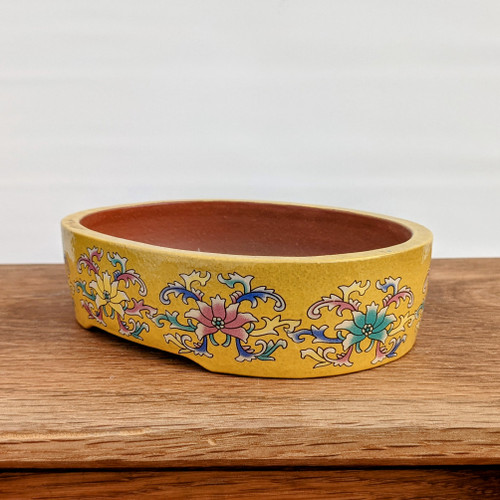 "6"" Quality Glazed Painted Yixing Pot (YX1071y)"