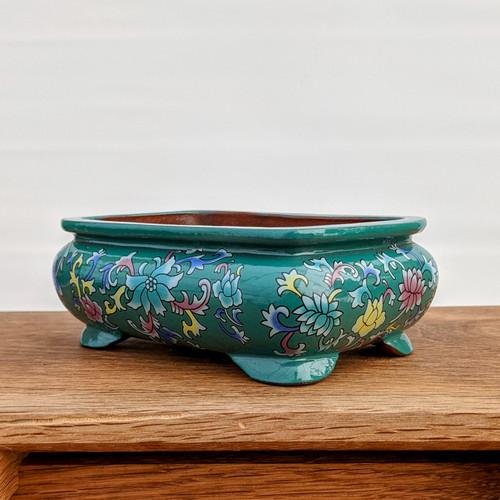"""5"""" Quality Glazed Painted Yixing Pot (YX1075g)"""
