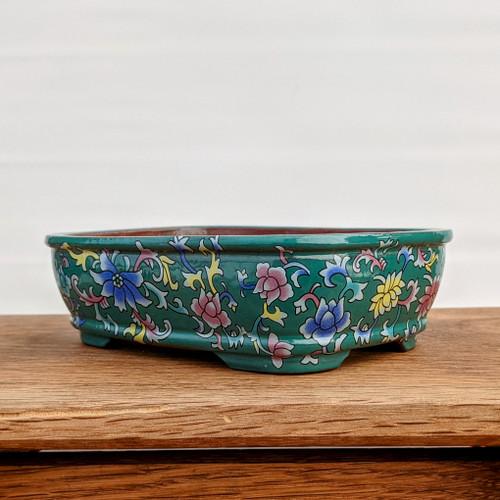 """6"""" Quality Glazed Painted Yixing Pot (YX1076g)"""