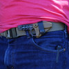 Wise Guy Carriers can be used to carry your Wise Guy scout style (as shown here) or IWB  (inside the waist band).