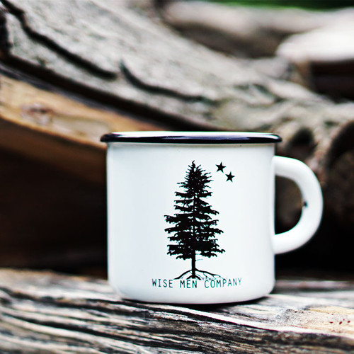 Wise Men Company Enamel Coffee Cup perfect for all your adventures
