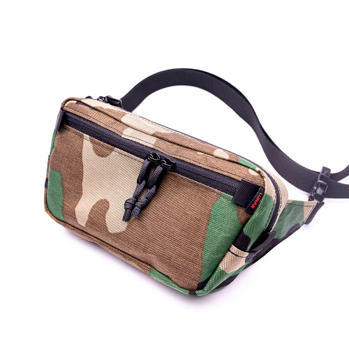 HulaPack wasit pack in Woodland (M81) V50 X-pac laminate