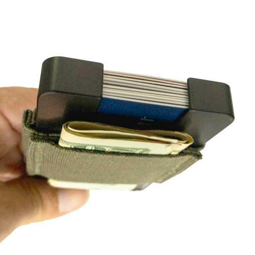 The FAT Wallet elastic band has a convenient cash loop
